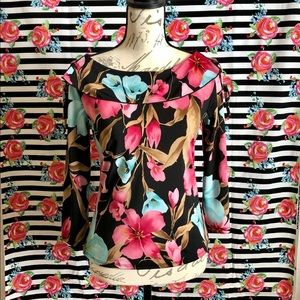 Tempted long sleeve floral 🌺 print blouse